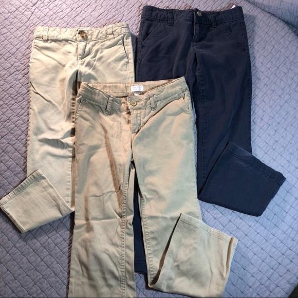 3c15a41fda Girls school uniform pants bundle - tan & navy. M_5b7f9aabcdc7f794ed9bcdcc